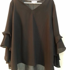 Black blouse with fun sleeves